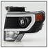 HID Xenon + 09-14 Ford F150 [Raptor Style] LED DRL Projector Headlights - Black