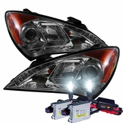 HID Xenon + 10'-13' Hyundai Genesis LED DRL Projector Headlights - Smoked