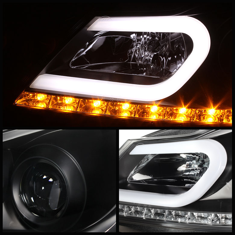 Hid xenon 12 39 14 39 m benz c class w204 led drl tube for Mercedes benz c300 headlights