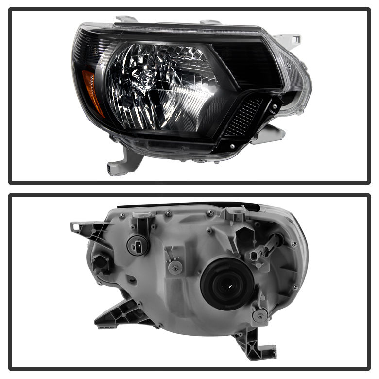 Hid xenon 12 15 toyota tacoma pickup replacement crystal hid xenon 12 15 toyota tacoma pickup replacement crystal headlights black publicscrutiny Image collections