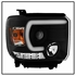HID Xenon + 14-16 GMC Sierra 1500 2500 3500 [Model w/ Factory LED DRL] Projector Headlights - Black
