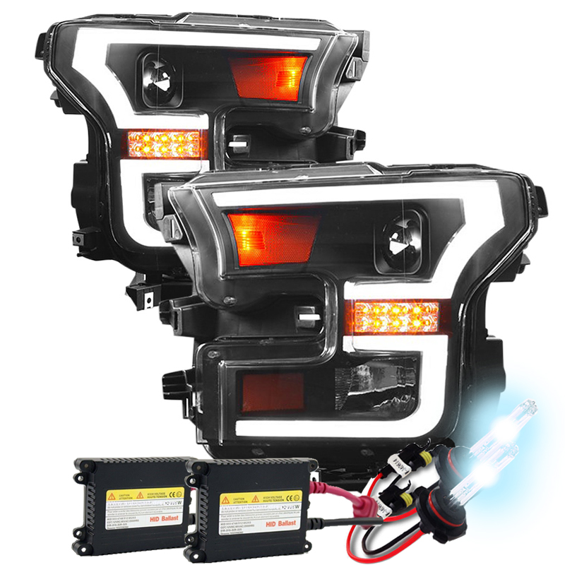 HID Xenon 15 16 Ford F 150 LED DRL Signal Projector