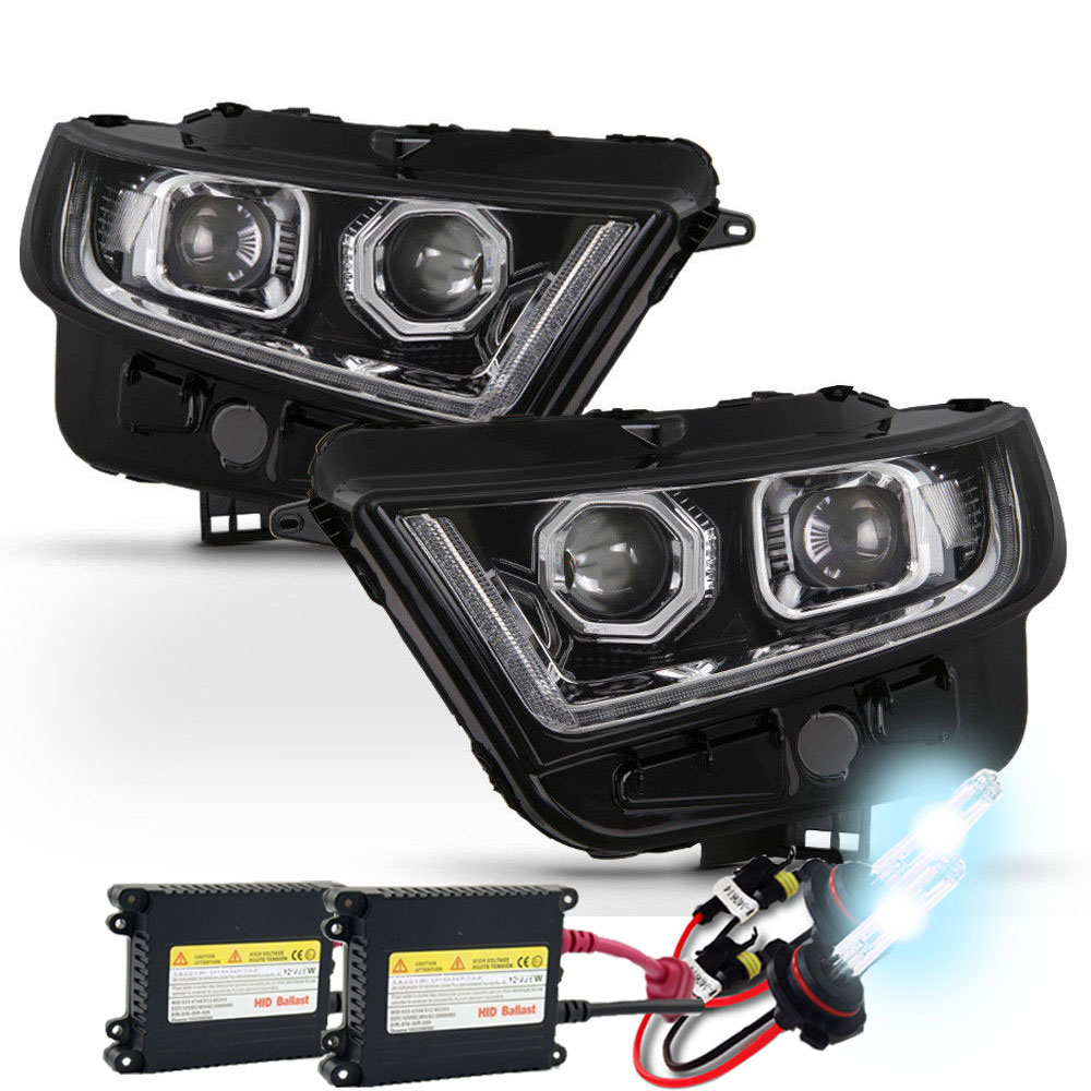 Hid Xenon   Ford Edge Sequential Led Signal Drl Projector Headlights Chrome