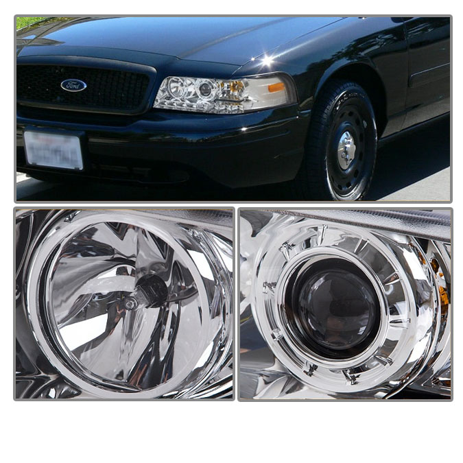 hid xenon 1998 2011 ford crown victoria led projector headlights chrome 40 hid xenon 1998 2011 ford crown victoria led projector headlights