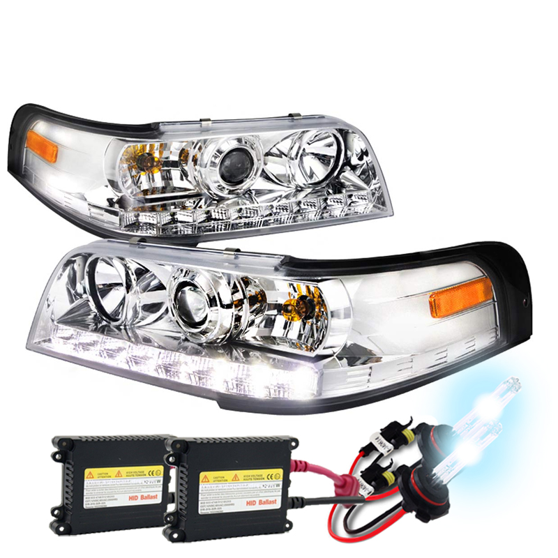 hid xenon 1998 2011 ford crown victoria led projector headlights chrome 70 hid xenon 1998 2011 ford crown victoria led projector headlights