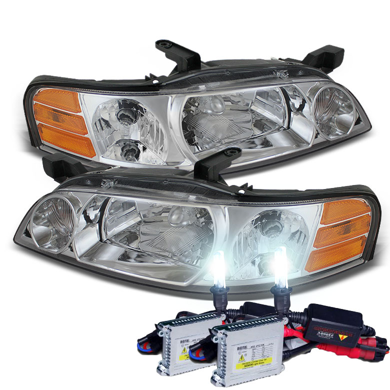 HID Xenon 2000 2001 Nissan Altima Replacement Crystal Headlights