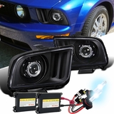 HID Xenon + 2005-09 Ford Mustang [Retro Style] Projector Headlights - Black