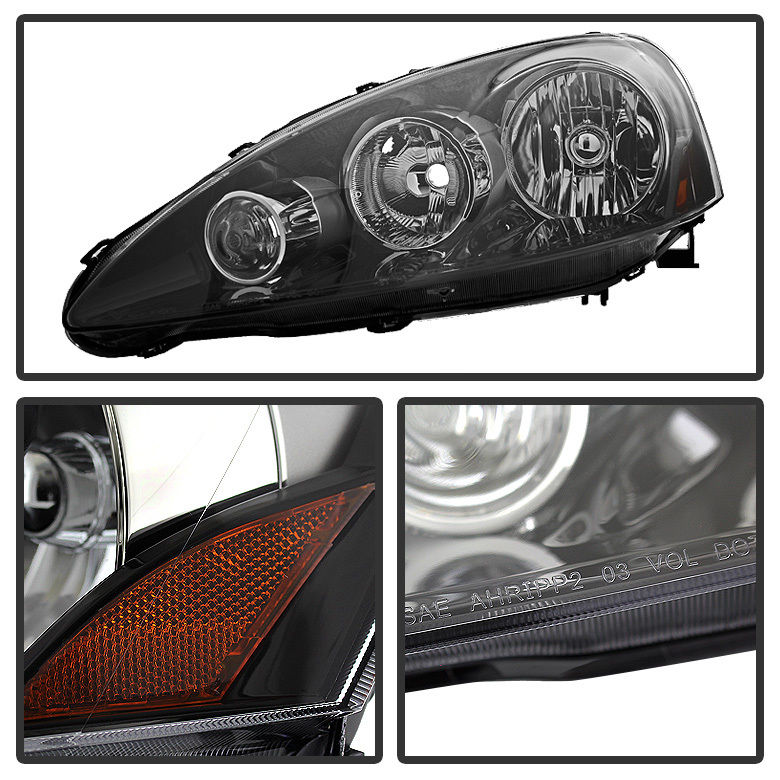 HID Xenon Acura RSX Crystal Replacement Headlights - 2006 acura rsx headlights