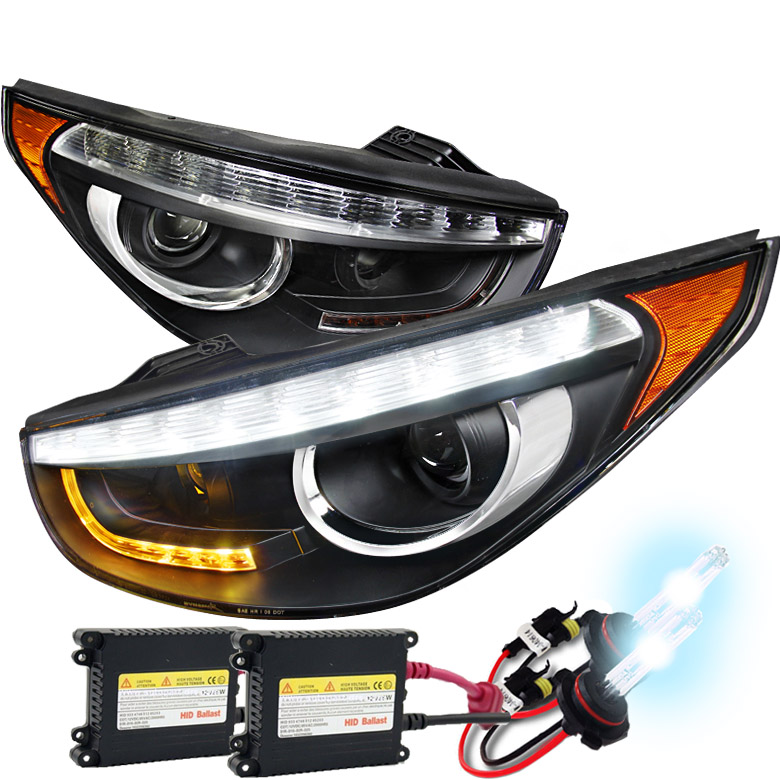 hid xenon 2010 2013 hyundai tucson led drl projector. Black Bedroom Furniture Sets. Home Design Ideas