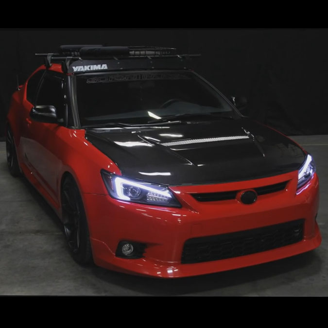 hid xenon 2011 2013 scion tc optic style led drl. Black Bedroom Furniture Sets. Home Design Ideas