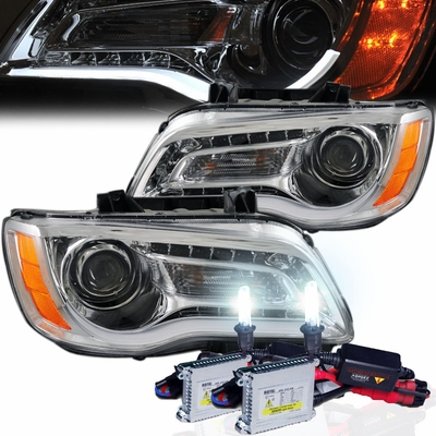hid xenon 2011 2014 chrysler 300 halogen model led drl. Black Bedroom Furniture Sets. Home Design Ideas