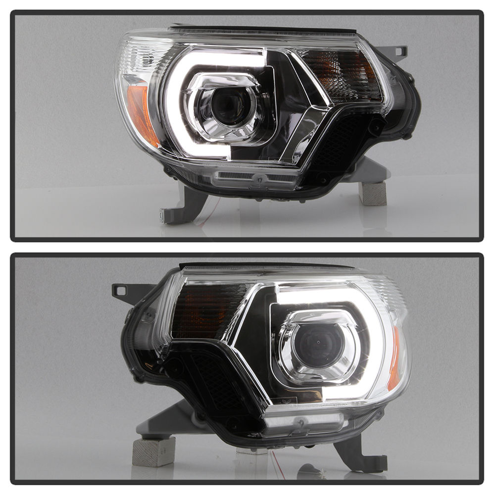 Hid xenon 2012 15 toyota tacoma led drl projector headlights chrome publicscrutiny Image collections