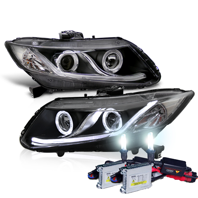 hid xenon 12 15 honda civic sedan 12 13 coupe drl led. Black Bedroom Furniture Sets. Home Design Ideas