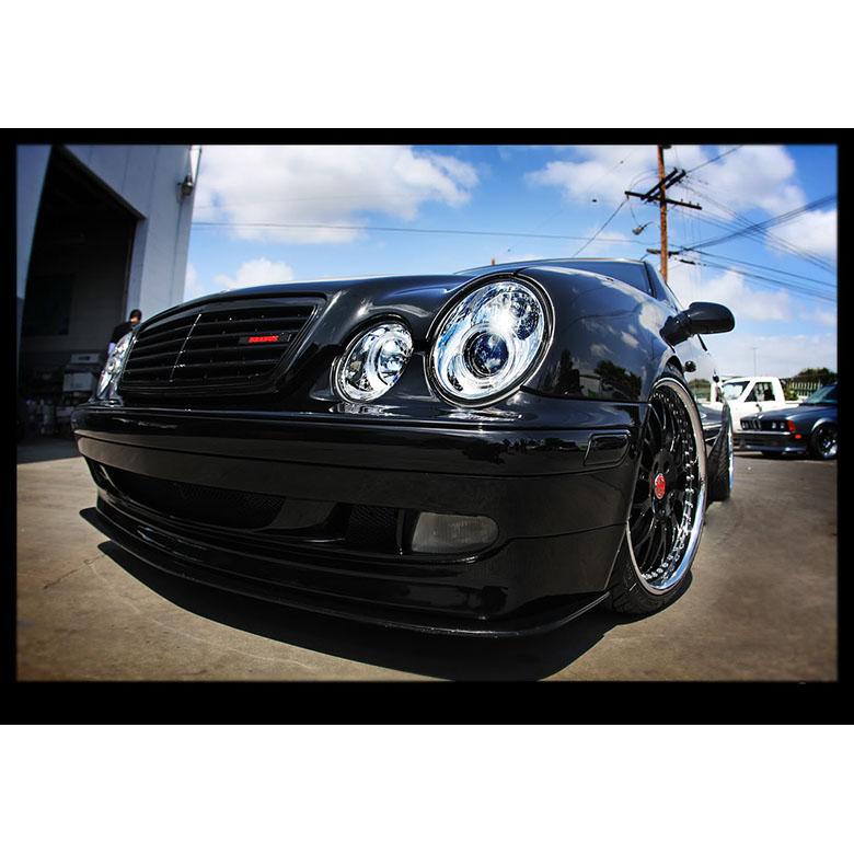 hid xenon 98 02 benz w208 clk angel eye halo projector headlights chrome 30 98 02 benz w208 clk angel eye halo projector headlights hid kit  at gsmportal.co