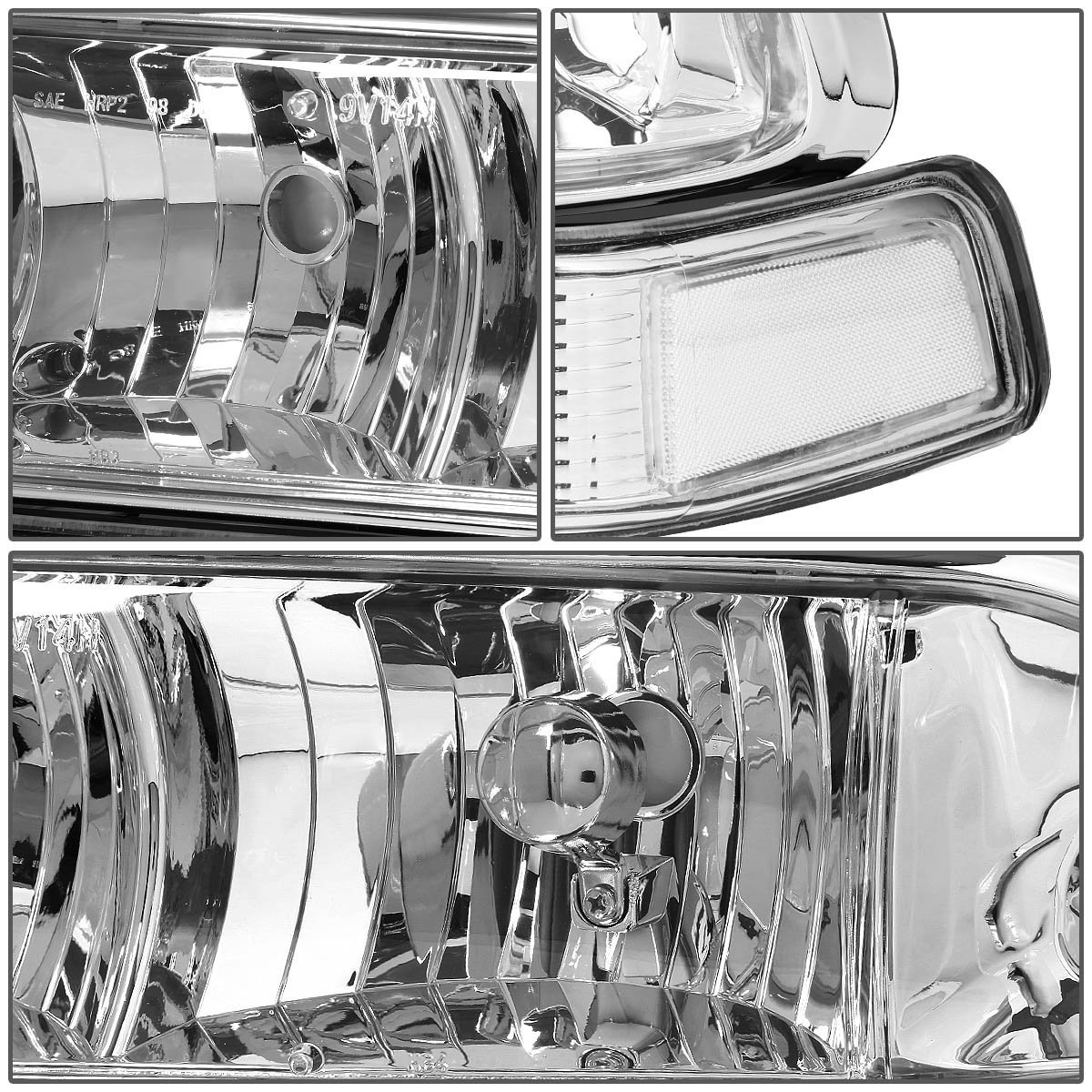 Hid Xenon 98 04 Chevy S10 Blazer Euro Style Crystal Headlights 1998 Wiring Diagram Accessories Replacement Bumper Lens