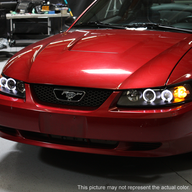 hid xenon 99 04 ford mustang angel eye halo projector. Black Bedroom Furniture Sets. Home Design Ideas