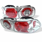 Spyder 1992-1995 Honda Civic 2/4-Door Euro Altezza Tail Lights - Chrome