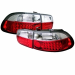 1992-1995 Honda Civic 2-Door / 4-Door Performance Altezza LED Tail Lights - Red Clear