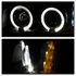 LED Low Beam + 2003-2006 Chevy Silverado / Avalanche Angel Eye Halo LED Projector Headlights + Bumper Lens - Black