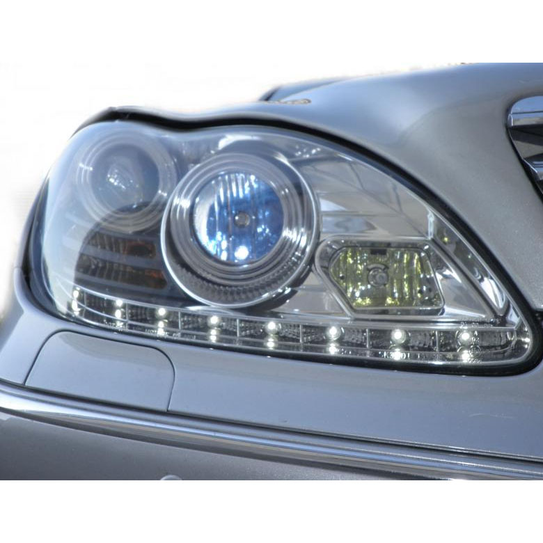 Mercedes benz w220 s class 00 06 drl led projector for Mercedes benz xenon headlights