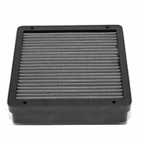Mitsubishi Lancer / Mirage / Outlander Reusable & Washable Replacement Engine High Flow Drop-in Air Filter (Silver)