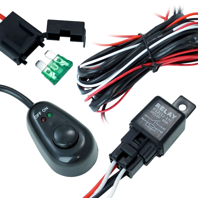 off road atv jeep led light bar wiring harness 40 amp relay on off rh protuninglab com  off road solutions wiring harness