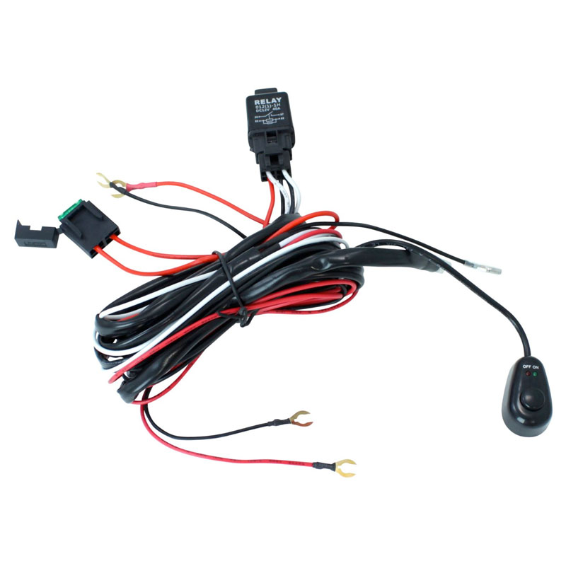 road atv jeep led light bar wiring harness 40 amp relay on switch