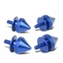 Pack of 4 - Anodized Aluminum Front Left / Right Spike Style Bumper Trunk Quick Release Fastener Kit - Blue