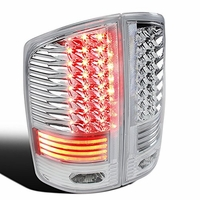 Spec-D 02-06 Dodge RAM Truck LED Tail Lights - Chrome