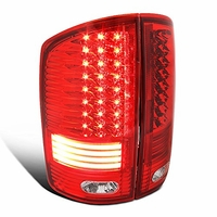 Spec-D 02-06 Dodge RAM Truck LED Tail Lights - Red