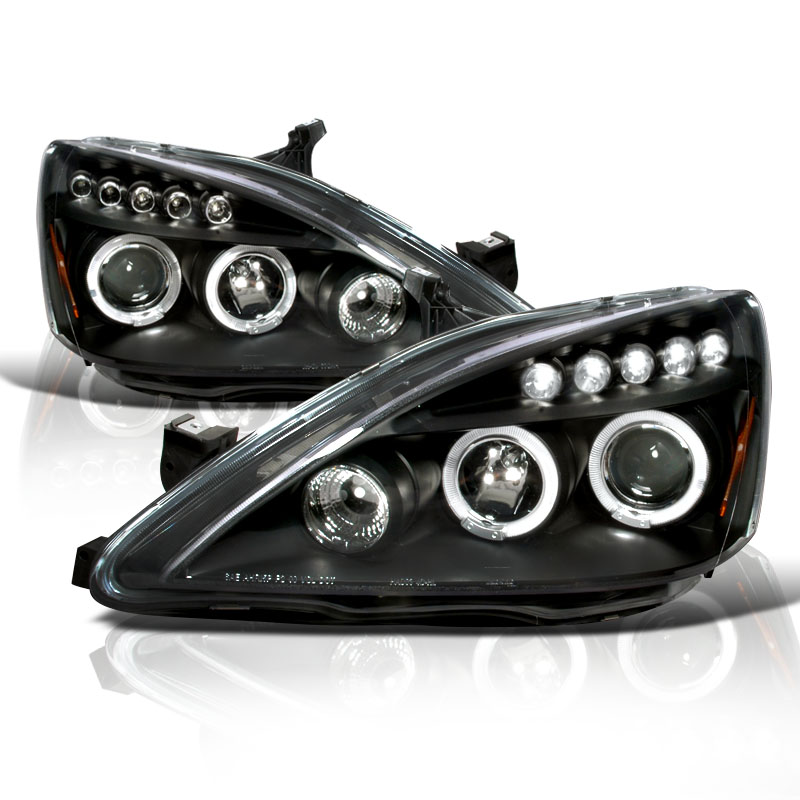Spec D 03 07 Honda Accord Angel Eye Halo Amp Led Strip