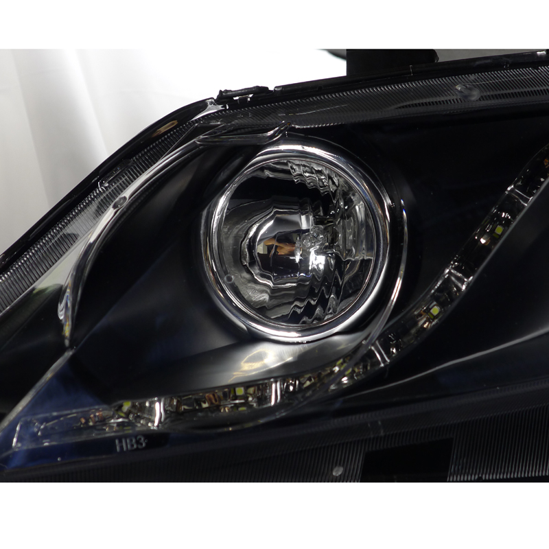 06 11 honda civic 4dr sedan r8 led projector headlights. Black Bedroom Furniture Sets. Home Design Ideas