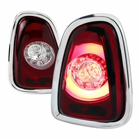 Spec-D 11-14 Mini Coooper Base / S LED Tail Lights - Red Clear