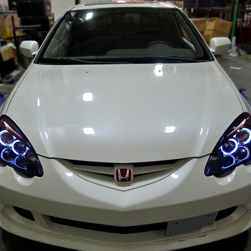 2002 2004 acura rsx angel eye halo led projector headlights