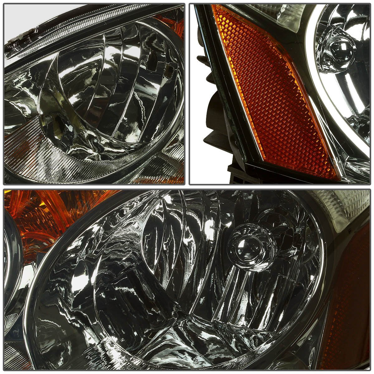 2002-2004 Acura RSX JDM Style Crystal Headlights