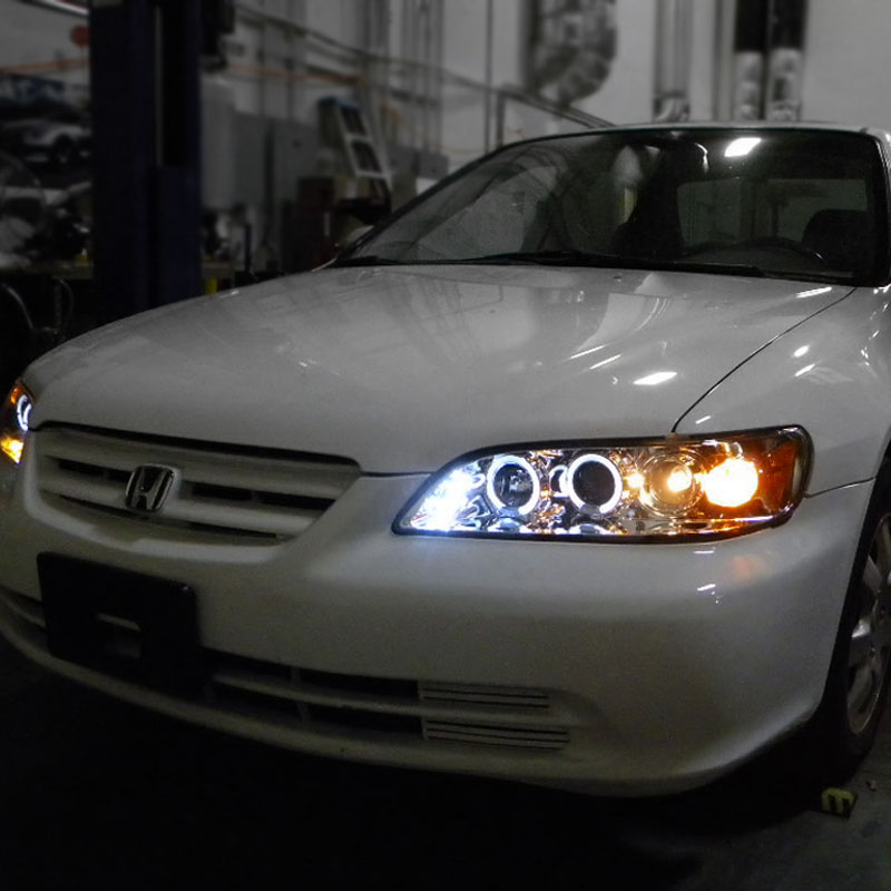 98 Honda Accord Coupe For Sale: Spec-D 98-02 Honda Accord Angel Eye Halo LED Projector