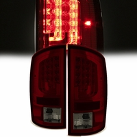 Spyder 02-06 Dodge RAM V2 LED Tail Lights - Red Smoked