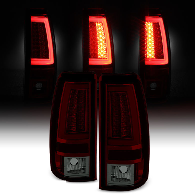 Spyder 03 06 Chevy Silverado Gmc Sierra V2 Led Tail Lights Red Smoked