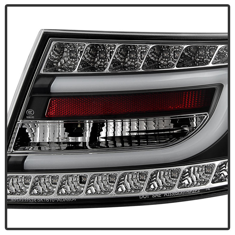 spyder 05 08 audi a6 s6 performance led tail lights v2 black. Black Bedroom Furniture Sets. Home Design Ideas