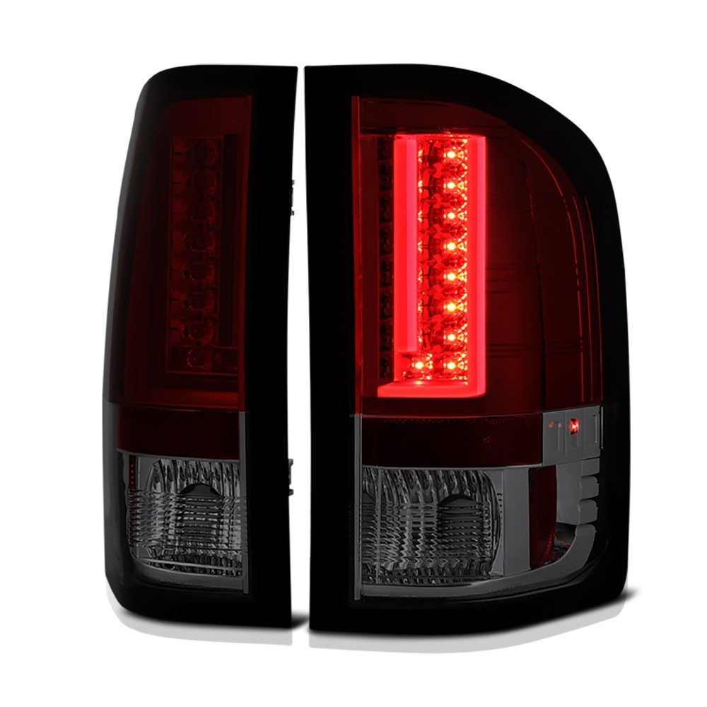 Spyder 07 13 Chevy Silverado Gmc Sierra V2 Led Tail Lights Red Wiring Harness 2007 2013 Pickup Plug And Play Fog Light Smoked