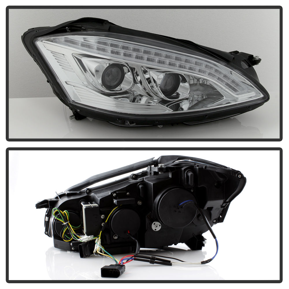 Spyder 07 13 mercedes benz s class w221 halogen model for Mercedes benz projector lights