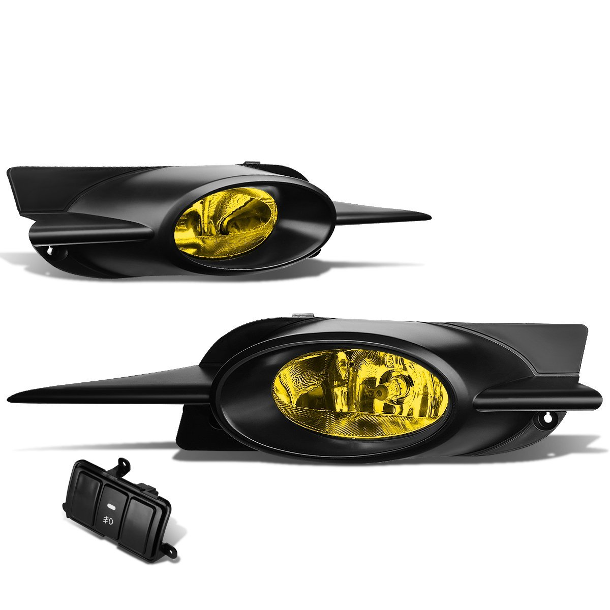 09 11 Honda Civic Coupe FG1/2 Pair Of Bumper Driving Fog Lights + Wiring  Kit + Switch   Yellow Lens