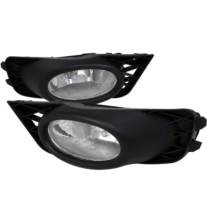Spyder 2009-2011 Honda Civic 4-Door Sedan Fog Lights Lamp Kit - Clear