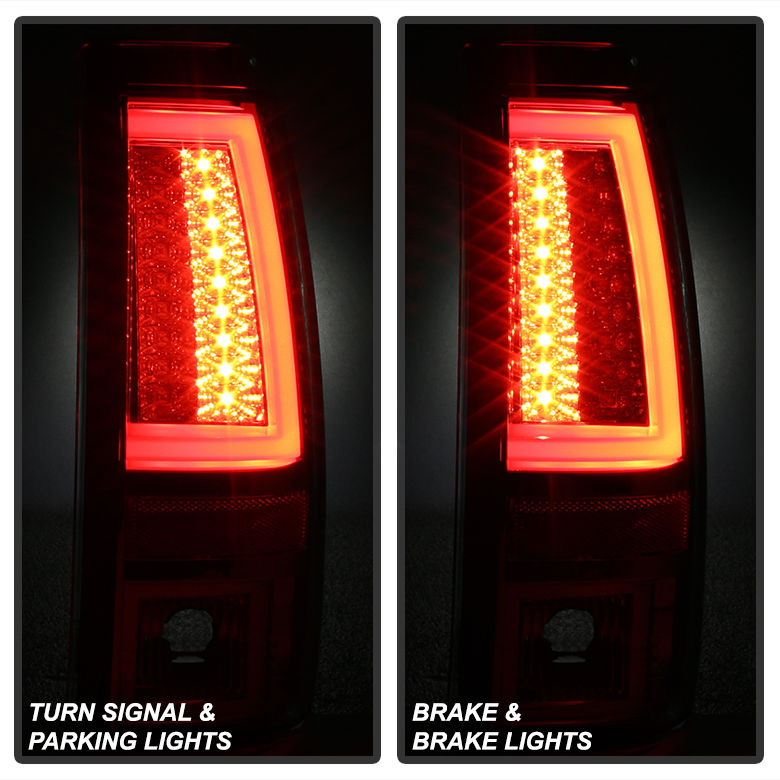 Spyder 99 02 Chevy Silverado Gmc Sierra V2 Led Tail Lights Black