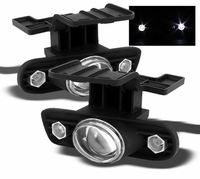 Spyder 99-02 Chevy Silverado / Suburban / Tahoe LED Projector Fog Lights - Clear