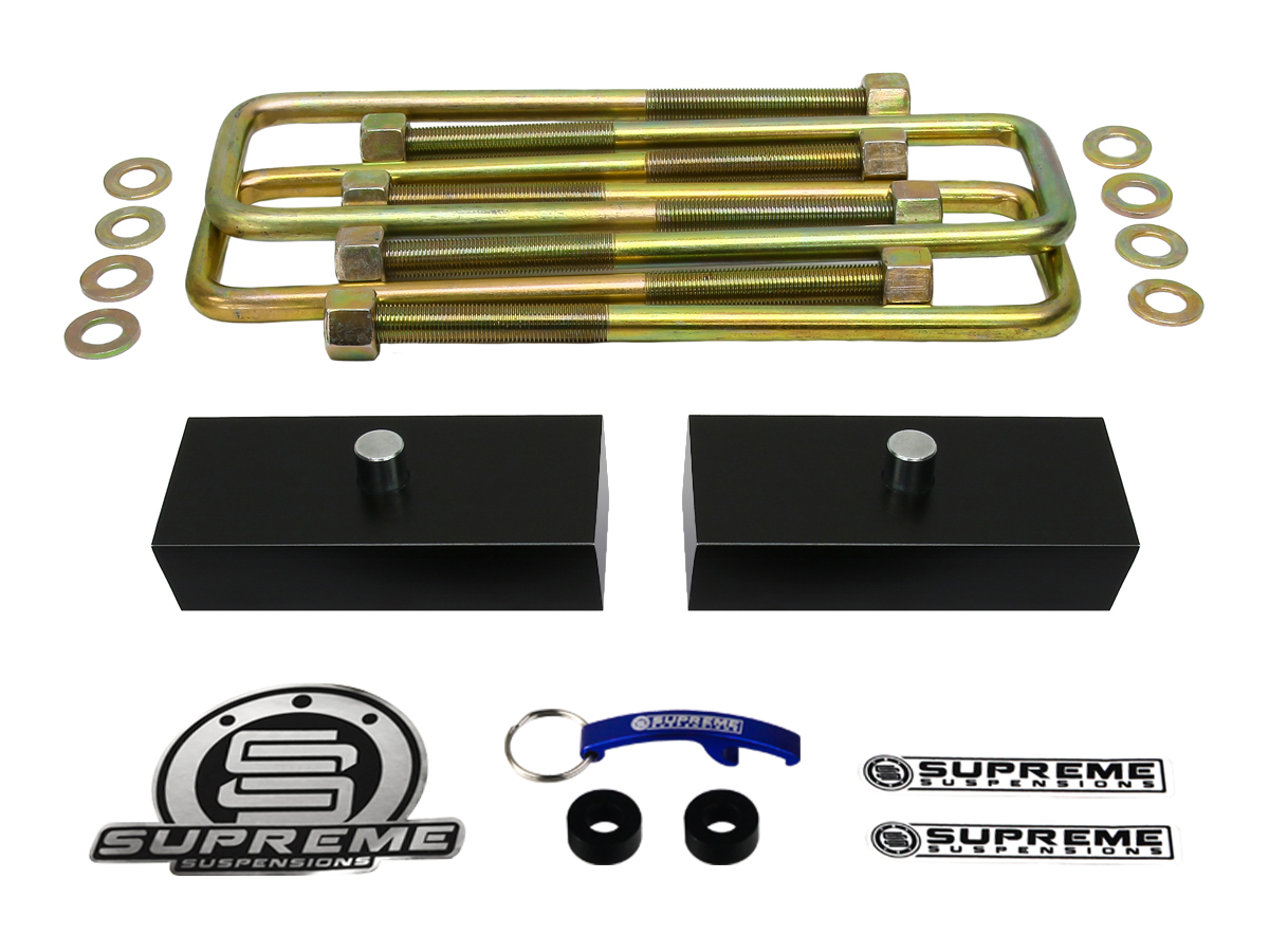 Supreme suspension 1 pro billet rear lift blocks for 2005 2015 supreme suspension 1 pro billet rear lift blocks for 2005 2015 nissan frontier 2wd and 4wd vanachro Images