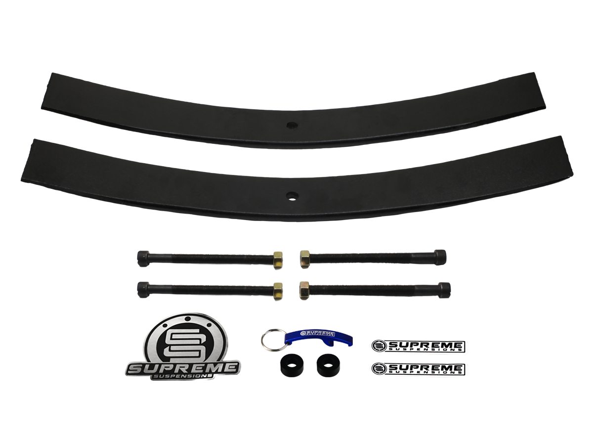 Supreme Suspension 2 Rear Add A Leaf Springs For 1987 1995 Jeep 2005 Wrangler Yj 2wd And 4wd Fits Front