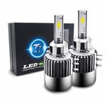 T1 LED Headlight Conversion Kit - H15 - Seoul CSP Y19 Chip - 72W, 7200LM 6K Cool White