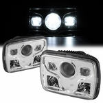 "Universal 4"" x6"" Low Beam Sealed Beam Conversion Headlights - Chrome"