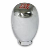 Universal 5-Speed Manual JDM Style Aluminum Shift Knob - Chrome